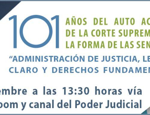 """09/09/2021: Corte Suprema invita a webinario """"Administración de justicia, lenguaje claro y derechos fundamentales"""""""